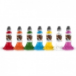 World Famous Ink - Simple 7 Color Set - 15 ml / 0.5 oz